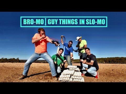 BroMo: Guy Things in Slow Mo - Exploding Eggs in 2500fps