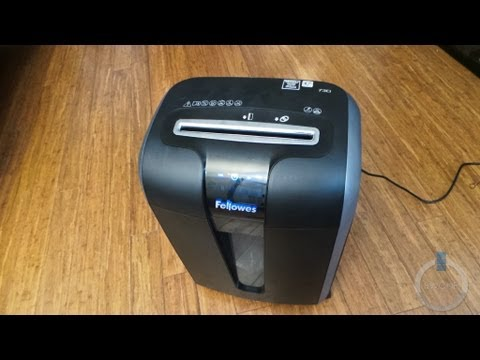 how to unclog fellowes paper shredder