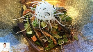 Easy To Do Salad From Salmon Scraps by Diaries of a Master Sushi Chef