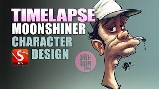 Autodesk Sketchbook Pro : Moonshiner Character Design