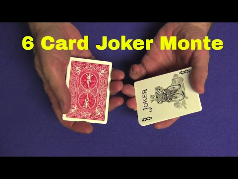 6 Card Joker Monte TUTORIAL and Deck Giveaway (видео)