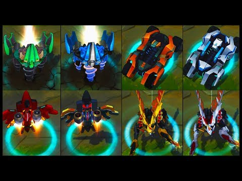 All Mecha Transformers Chroma Skins Recall Animations (League of Legends) (видео)