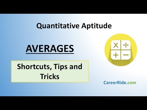 Averages - Shortcuts & Tricks for Placement Tests, Job Interviews & Exams