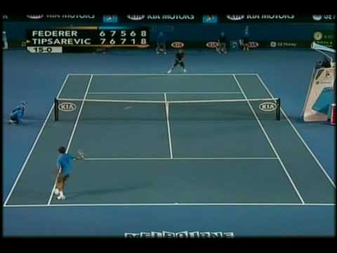 Federer y Tipsarevic en el Abierto de Australia 2008