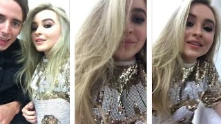 Sabrina carpenter during her live stream today Help with content translation: http://bit.ly/2pbnSFtFollow me:Instagram: www.instagram.com/snapp_bossSnapchat: snapp-bossFacebook:  http://bit.ly/2bTW3rr