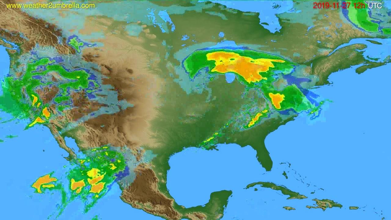 Radar forecast USA & Canada // modelrun: 00h UTC 2019-11-27