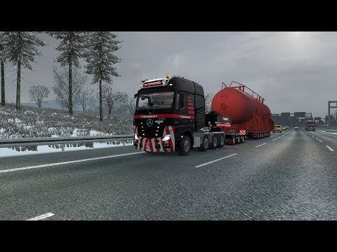 Mammoet Next Gen Scania S & R + Trailer + Escort Vans Skins
