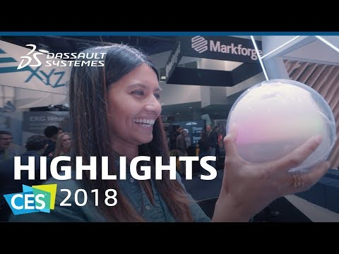 CES 2018 - Highlights - Dassault Systèmes (видео)