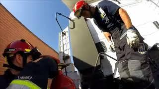 Maniobras de parada de motor de vehículo pesado en situaciones de emergencia