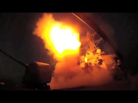 美國總統川普被敘利亞化武攻擊踩到底線,直接下令發射59枚飛彈反擊抗議!(有發射現場影片)