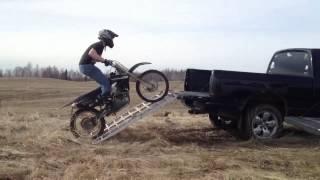 10. Buddy loaded his bike a little fast