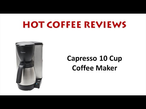 Capresso 10 Cup Coffee Maker with Thermal Carafe Review