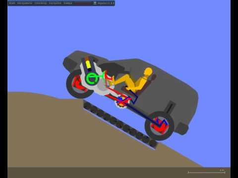 Algodoo fully functional car tricks