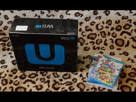 Распаковка консоли Nintendo Wii U premium pack