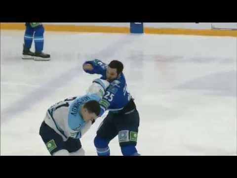 Бой КХЛ: Рыспаев VS Меньшиков / KHL Fight: Ryspayev VS Menshikov (видео)