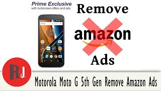 How to Remove Lock Screen Ads from your AmAzon Phones like the Moto G 4th gen and the Moto G 5th gen. This tool works on both Android 6.0 and 7.0 click show more for links. Link to the Amazon Ad Removal Tool.http://rootjunkysdl.com/files/?dir=Moto%20G%205th%20GenCheck out PhonLab E-Campus, if you want to learn tons more about Phone repairs tips and tricks to help you repair smartphones. Use coupon code rootjunky9 at check out to get a nice discount.http://phonlab.teachable.com/?affcode=57417_o7w7j7zdHow to Identify the Code Name and model of your Android devicehttps://youtu.be/nCU45rgbDKwLink to RootJunky.com where you can find all my work in on easy to navigate place. tutorials, tips, tricks, root, restore, roms, Custom recovery and so much more.My Favorite Tech and what i used to make my youtube videoshttp://astore.amazon.com/root0f94-205 Things you need to know before rooting or hacking your android device https://youtu.be/n8LMyRqBViMHow to install Android Device drivers  http://youtu.be/j_KPGUMzrjUWhy Root Android devices video http://youtu.be/6vqnnLnOn3g Universal UnRoot App for all Devices http://youtu.be/ySNStU8OTuk My New Downloads Page is here http://rootjunkysdl.com/PLEASE READ Warning… do this at your own risk. I am not responsible for what you do to your device. I am happy to help with any problems my subscribers are having on their android devices. I am going to need lots of info from you to be able to help.  Because of the large amount of messages I get every day I will not answer any questions that do not include this info in the message thanks for understanding.  1.  What device you have.  2.  What android version you are running.  3.  What rom stock or custom rom / build number in about phone.  4.  What you have done to the device.  5.  Recovery stock, TWRP. CWM . With this info I will be able to help. FOLLOW ME http://RootJunky.comhttps://www.facebook.com/rootjunkyhttps://twitter.com/rootjunkyhttps://www.youtube.com/tomsgt123https://www.google.com/
