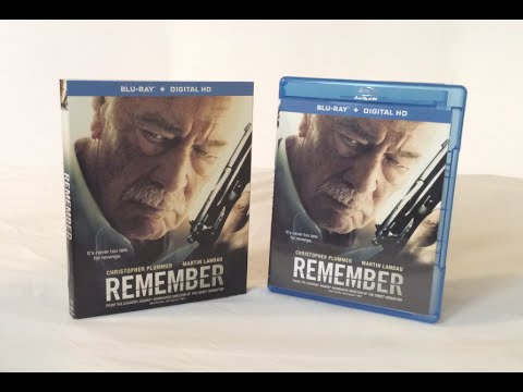 Remember - Blu Ray Unboxing and Review - Christopher Plummer
