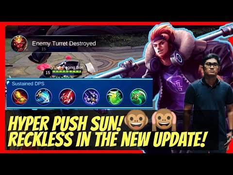 SUN GAMEPLAY | THE MONKEY KING IS BACK IN THE NEW UPDATE! | HYPER PUSH TURRETS! MLBB | DreamPlaysPH