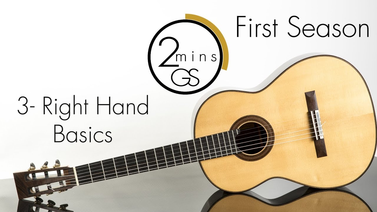 "3 – Right Hand Basics – ""2 Minutes Guitar School"" – How to Play Guitar-Beginners (Tutorials)"