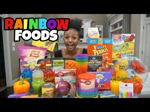 Only Eating Rainbow Foods For 24 Hours 🌈 | LexiVee03