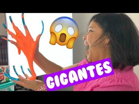 Videos de uñas - Mi Mamá Hace SLIME con UÑAS EXTRA LARGAS