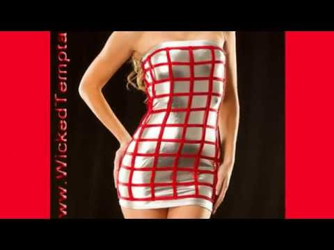 Perfect Sexy Valentine's Gift Ideas Red Fashions Video Playmate Model Tiffany Toth Dress Gown Skirt