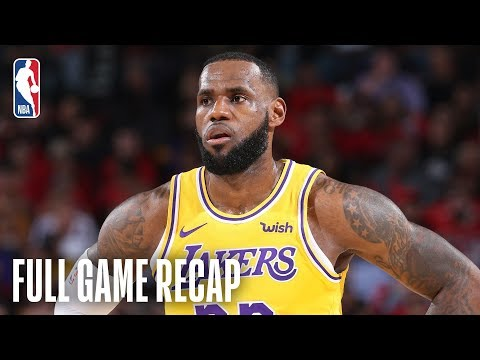 Video: LAKERS vs TRAIL BLAZERS | LeBron Scores 26 Points In Lakers Debut | October 18, 2018