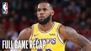 LAKERS vs TRAIL BLAZERS | LeBron Scores 26 Points In Lakers Debut | October 18, 2018 by NBA