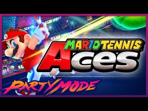 IGN vs. Kinda Funny - Mario Tennis Aces Tournament - Party Mode