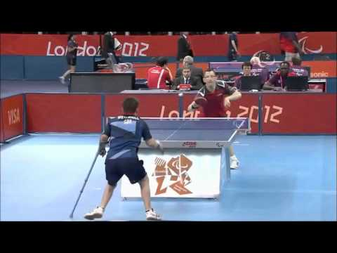 Amazing Table Tennis Shot at Paralympic