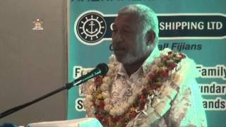 Lomaiviti Islands Fiji  city photos : Fijian Prime Minister Voreqe Bainiamarama launches Lomaiviti Princess III