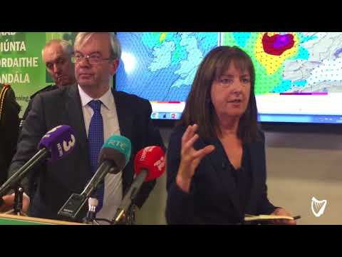 VIDEO: Evelyn Cusack explains how Hurricane Ophelia is set to hit Ireland