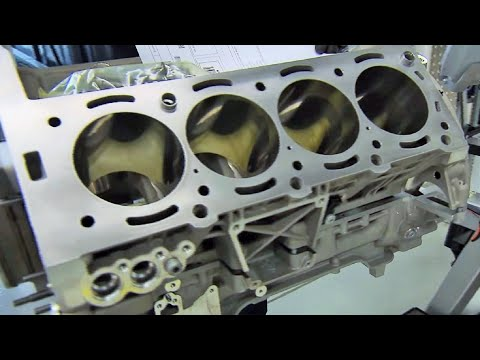 Mercedes Benz AMG 63 V8 Engine Production