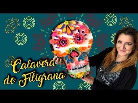 Calavera Día de Muertos Filigrana :: Chuladas Creativas :: Skull