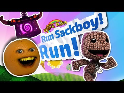 Annoying Orange Plays - Run Sackboy Run! (Little Big Planet Endless Runner)