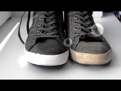 как почистить кроссовки белые видео
