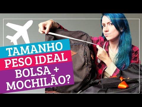 Peso ideal - TUDO SOBRE REGRAS BAGAGEM DE MÃO + MOCHILA: pesos e tamanhos permitidos no avião