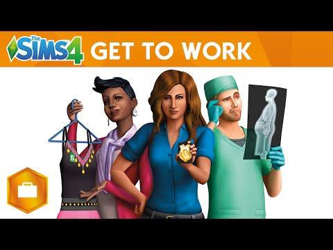 Los Sims 4 ¡A trabajar! caratula DVD PC