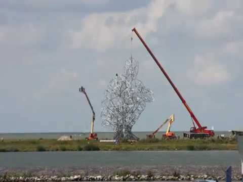 The making of Exposure - Landart Antony Gormley