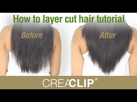 Step by step tutorial for layered hairstyles. Quick and easy haircuts from