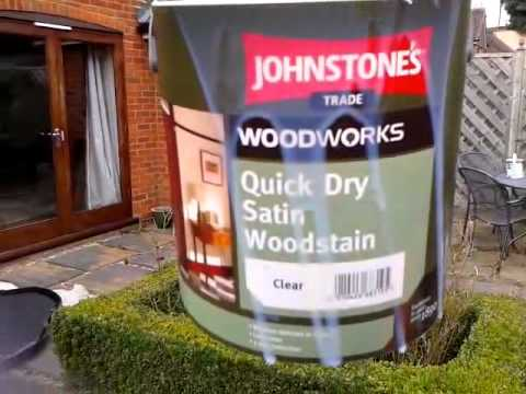 JOHNSTONE'S Quick Dry  Water Based  CLEAR Woodstain  Say YES