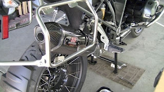 9. How to install Yoshimura Exhaust on 2017 BMW R1200GS Adventure Motorcycle Triple Black