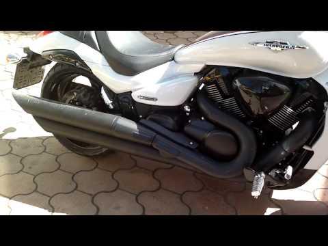 Демонтаж стокового глушителя Suzuki M109R / VZR1800 / M1800R.