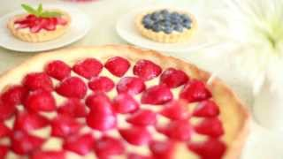 Eenvoudige aardbeientaart