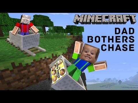 3 Yr Old Chase plays MINECRAFT PE & Dad Bothers Him...A Lot!  Roller Coaster Push (FGTEEV Gameplay)