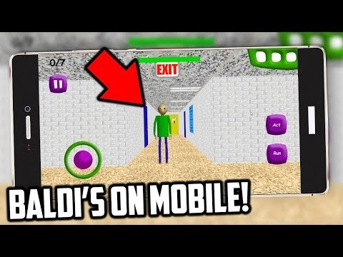 How to play Baldis Basics on MOBILE.. Baldis Basics in Education and Learning Bootlegs