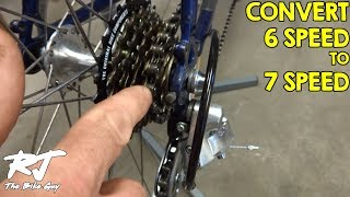 Video How To Do 6 Speed To 7 Speed Freewheel Conversion MP3, 3GP, MP4, WEBM, AVI, FLV Mei 2017