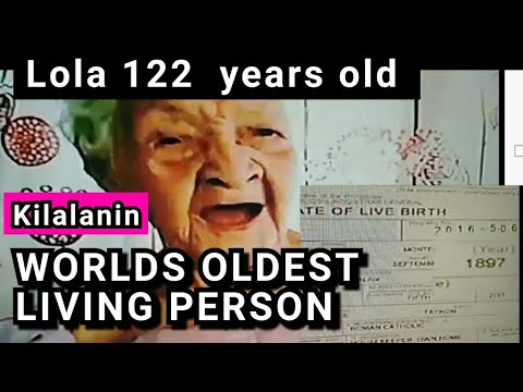 Lolang 122 years old WORLDS OLDEST LIVING PERSON