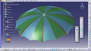 Catia V5 Tutorial|How to Design an Umbrella P4|Product Design Engineering Beginner's