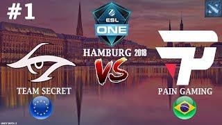 Secret vs paiN #1 (BO3) | ESL One Hamburg 2018